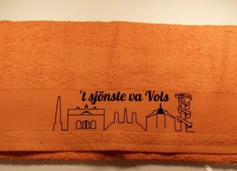 Völser oranje handdoek Skyline